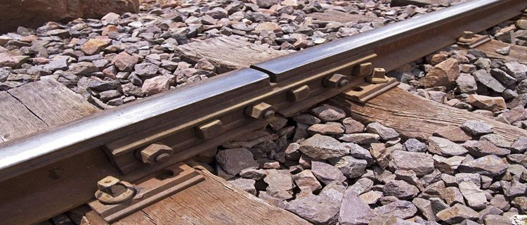 Rail-joint on the railroad