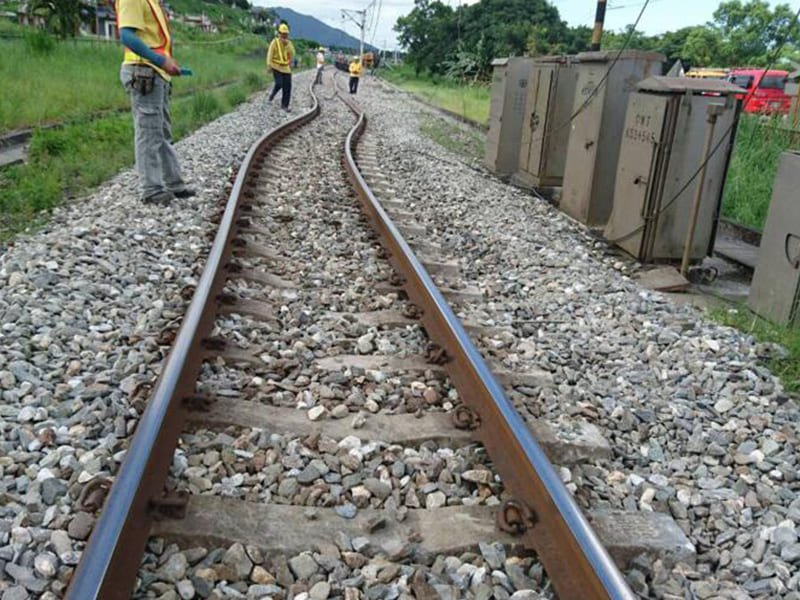 railway track expansion because of heat