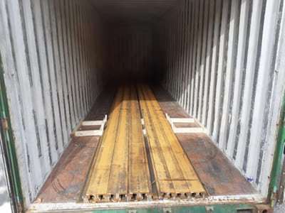 A55 A75 rail shipped to Congo