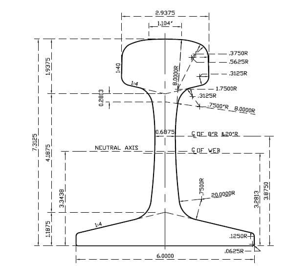 136-re-rail-profile