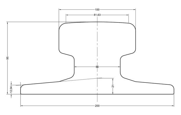 A100-crane-rail-dimension