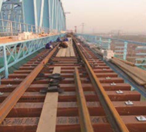 composite railroad tie used on bridge