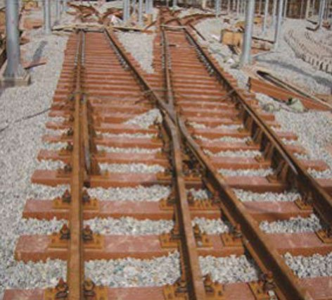 composite railroad ties used on turnout